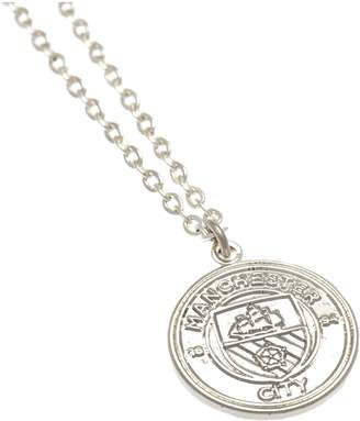 Manchester City Silver Plated Man City Pendant and Chain.