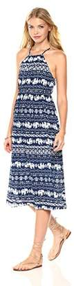 Peace Love Maxi Women's Summer Elephant Printed Midi-Length Dress
