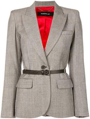 Barbara Bui check belted blazer