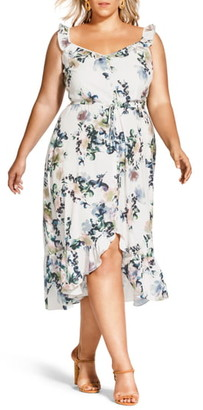 City Chic Glasshouse Floral High/Low Dress
