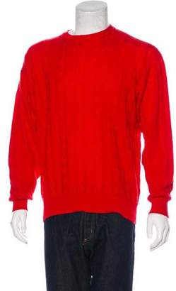 Manrico Cashmere Cashmere Cable Knit Sweater