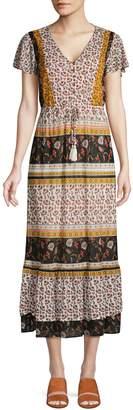 Style&Co. Style & Co. Petite Mixed-Print Midi Dress