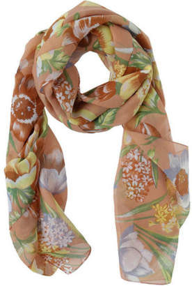 NEW Innovare Made in Italy Peach Soft Floral Scarf
