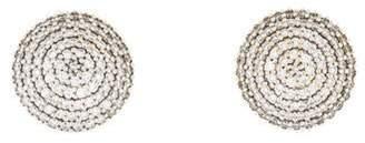 Gurhan 2.83ctw Diamond Large Lentil Ice Earclips yellow 2.83ctw Diamond Large Lentil Ice Earclips