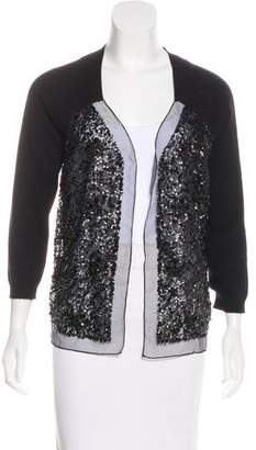 Magaschoni Cashmere Sequined Cardigan w/ Tags