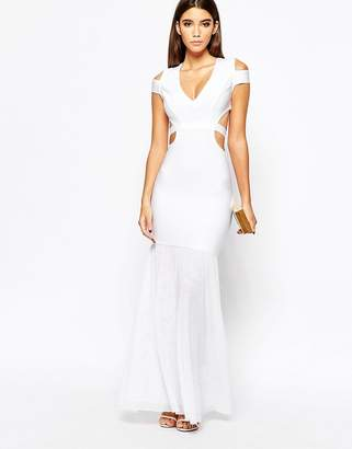 Wow Couture Cut Out Fishtail Maxi Dress