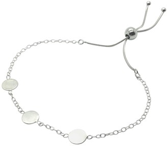 Lucy Ashton Jewellery Three Small Circle Disc Bracelet Sterling Silver