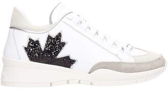 DSQUARED2 Canada White Leather Sneakers