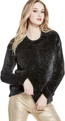 GUESS (ゲス) - ゲス GUESS CHENILLE HIGH-LOW PULLOVER SWEATER
