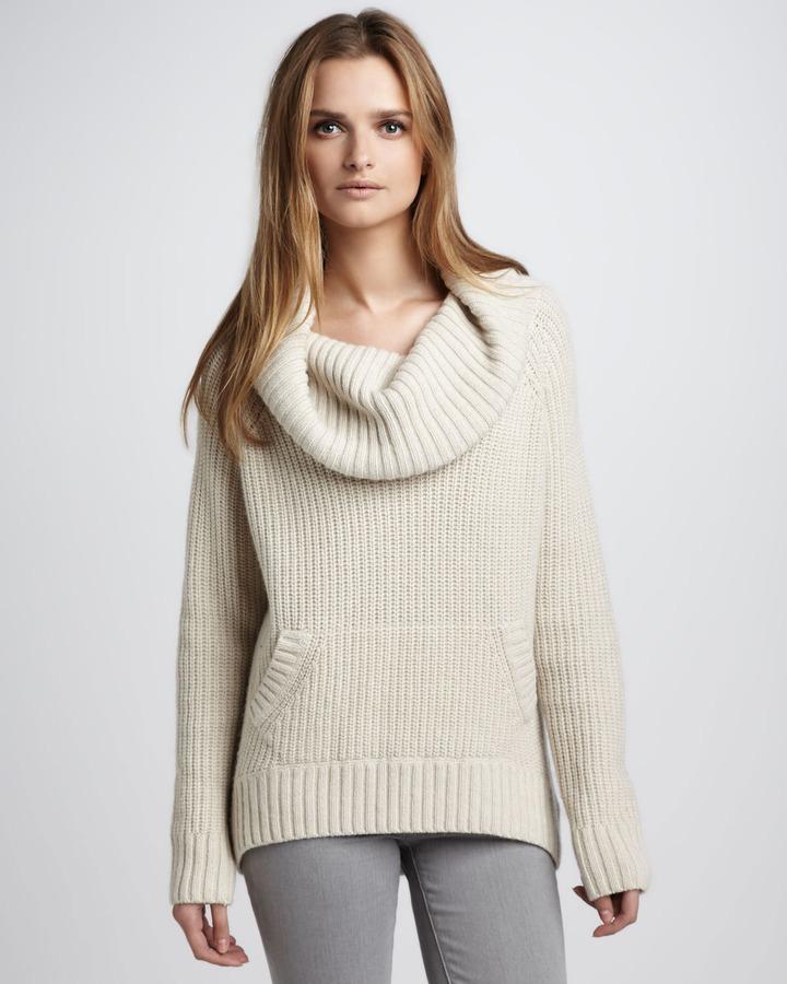 Autumn Cashmere Cowl-Neck Cashmere Sweater