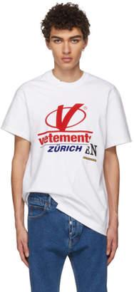 Vetements White Cut-Up T-Shirt