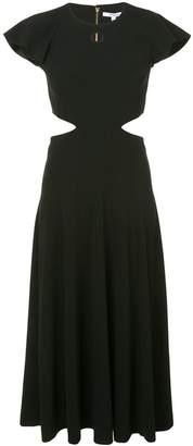 Derek Lam 10 Crosby Short Sleeve Ruffle Midi Dress