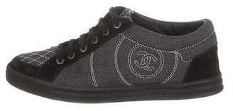 Chanel CC Canvas Low-Top Sneakers