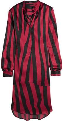 Ann Demeulemeester Striped Stretch-Silk Satin Tunic