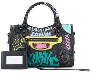 Balenciaga Women's Black Leather Handbag.