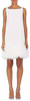 Lisa Perry Women's Foxy Feather-Trimmed Wool Shift Dress