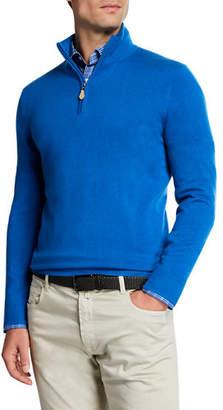 Neiman Marcus Men's Cashmere Quarter-Zip Sweater