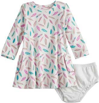 Baby Girl Jumping Beans Long-Sleeve Pocket Dress