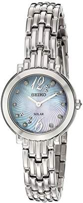 Seiko Women's 'Tressia' Quartz Stainless Steel Casual Watch, Color:Silver-Toned (Model: SUP353) $268.85 thestylecure.com