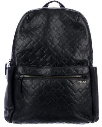 Tumi T-Embossed Leather Backpack