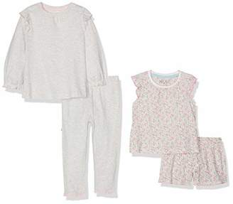 Mothercare Girl's Pink Floral Shortie and Grey Spot Pyjamas - 2 Pack Sets,(Size:86CM)