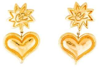 Christian Lacroix Heart Clip-On Earrings