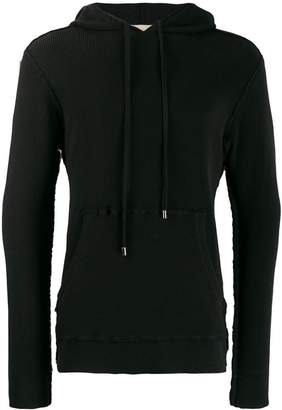 2fd7a74e9 Mens Ribbed Knit Hoodie - ShopStyle