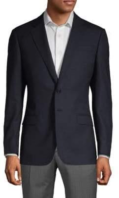 Armani Collezioni Classic Fit Diagonal Weave Sport Jacket