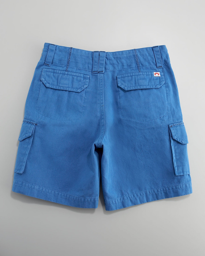 Appaman Solid Cargo Shorts, Midnight, 6-12