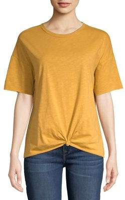 Vero Moda Short-Sleeve Knotted Cotton Tee