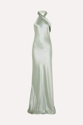 Pandora Galvan Silk-satin Gown - Mint