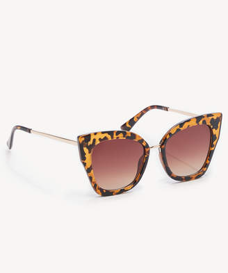 Sole Society Women's Cecil Dramatic Cat Eye Sunglasses Frame Tortoise One Size From