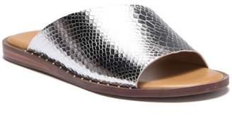 Franco Sarto Rye Snake Embossed Slide Sandal