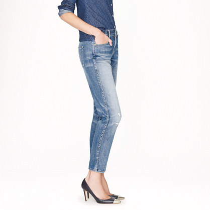J.Crew Cropped vintage straight jean in cascade wash
