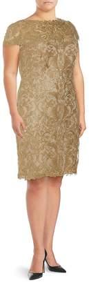 Tadashi Shoji Women's Lace Short-Sleeve Dress