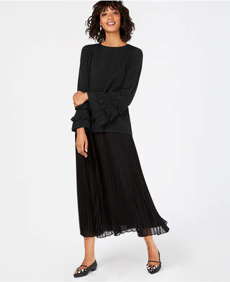 Charter Club Ruffled Pure Cashmere Sweater
