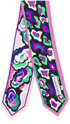 Emilio Pucci abstract print skinny scarf