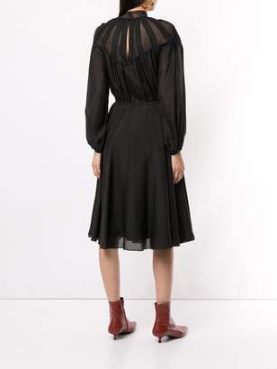 CK Calvin Klein long-sleeve shirt dress