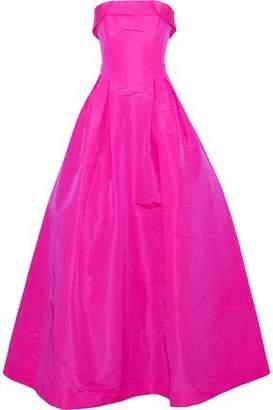 Sachin + Babi Rielle Strapless Neon Silk Duchesse Satin-Twill Gown