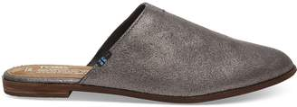 Pewter Metallic Leather Women's Jutti Mules