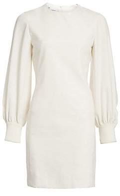 Akris Punto Women's Puff-Sleeve Wool Flannel Shift Dress