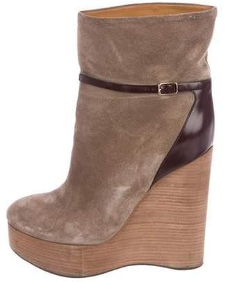 Chloé Platform Wedge Boots