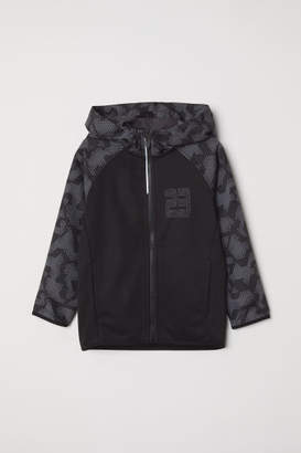H&M Hooded Sports Jacket - Black