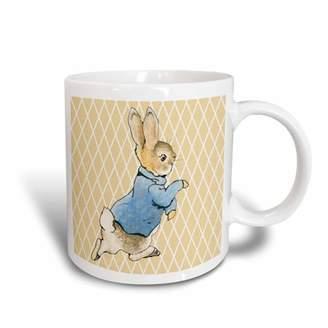 3dRose Peter Rabbit Vintage Art- Animals, Ceramic Mug, 11-ounce