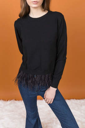 Allison Collection Feather Hem Sweater
