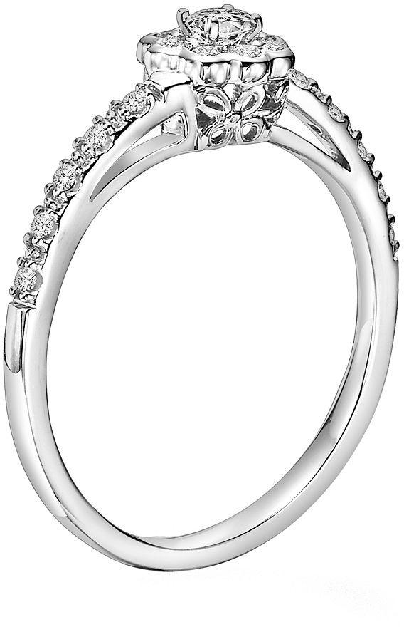 Simply Vera Vera Wang Diamond Flower Engagement Ring in 14k White Gold (1/4-ct. T.W.)