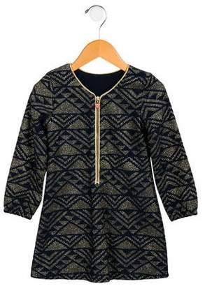 Billieblush Girls' Metallic-Accented Long Sleeve Dress