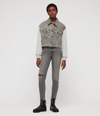 AllSaints Grace Destroy Ankle Skinny Jeans