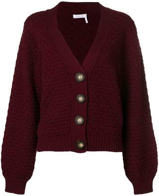 See by Chloe textured chunky-knit cardigan