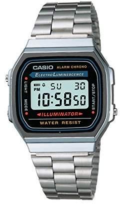 Casio Unisex Digital Watch with Stainless Steel Bracelet A168WA-1W